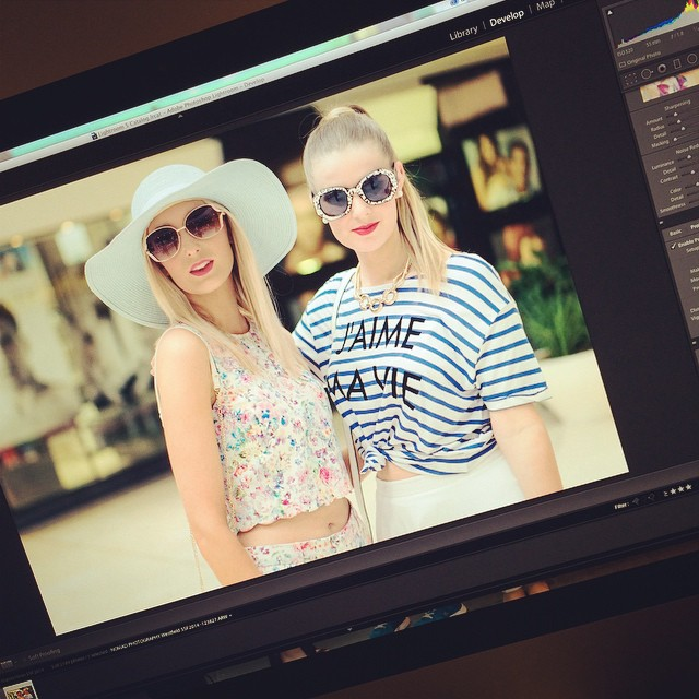 Editing the SSF2014 from @westfieldbelconnen today. What an awesome fashion show.  Hair by @hhwhbelconnen and styled by #Hayley #westfield #a7s #ssf2014 #spring #summer #fashion #festival #doubletap #afterRAW