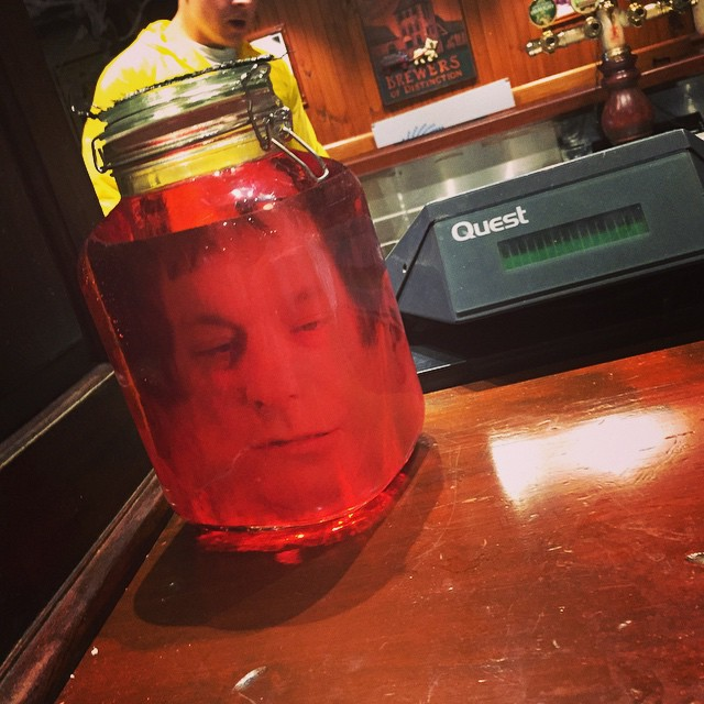 There's a dude in the jar .. #halloween #omalley