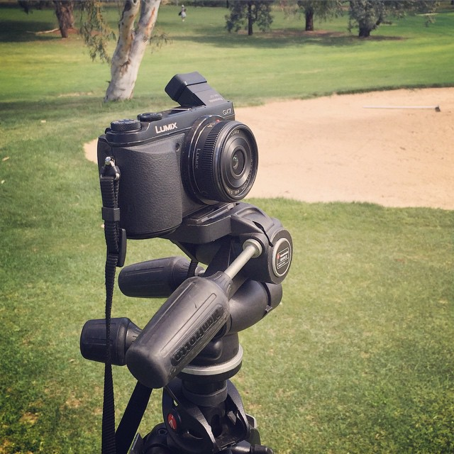 Shooting a golf course brochure with the #gx7 #yolo #golf #fgc #m43 #open #notroll #lg #redhill #panasonic