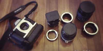 OM-D and lens adapters | Courtesy of AfterRAW.com